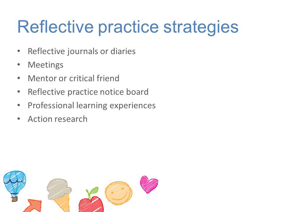 Reflective practice strategies