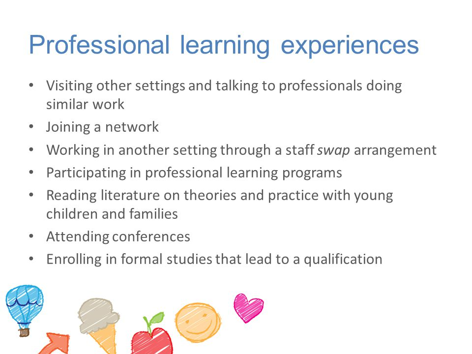 Professional learning experiences