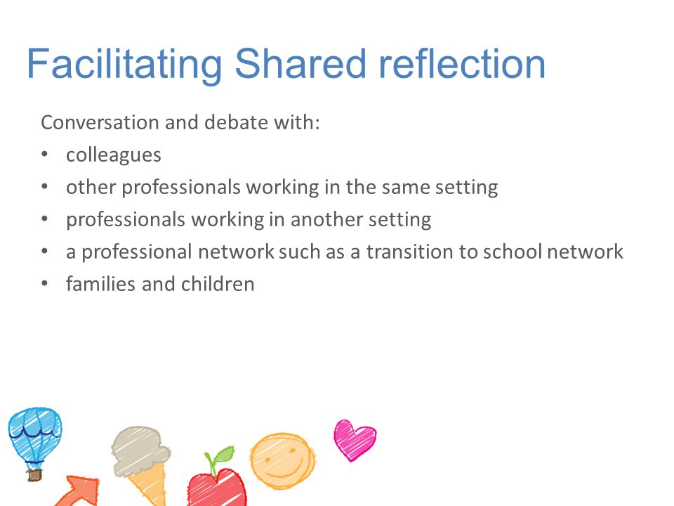 Facilitating Shared reflection