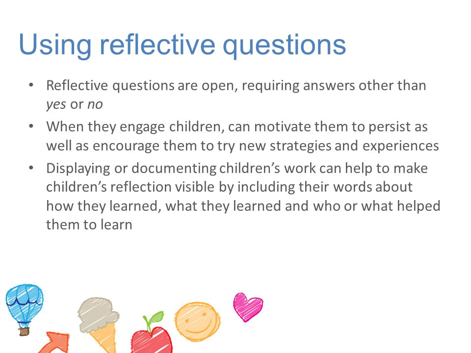 Using reflective questions