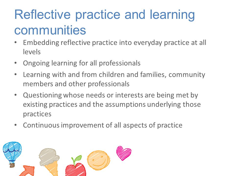 Reflective practice and learning communities