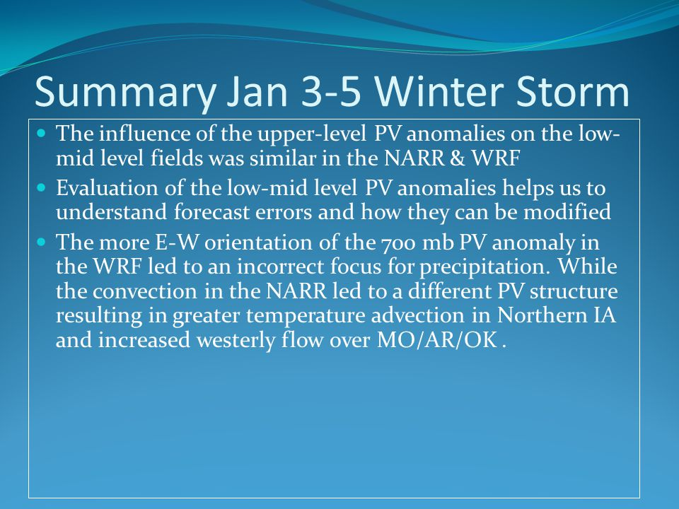 Summary Jan 3-5 Winter Storm