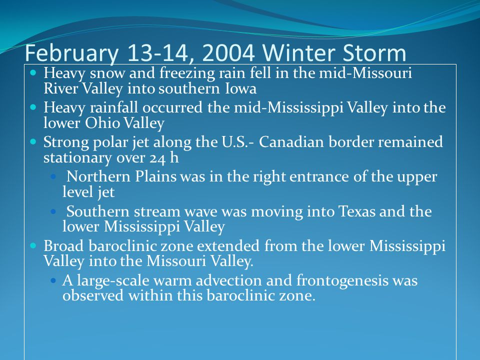 February 13-14, 2004 Winter Storm