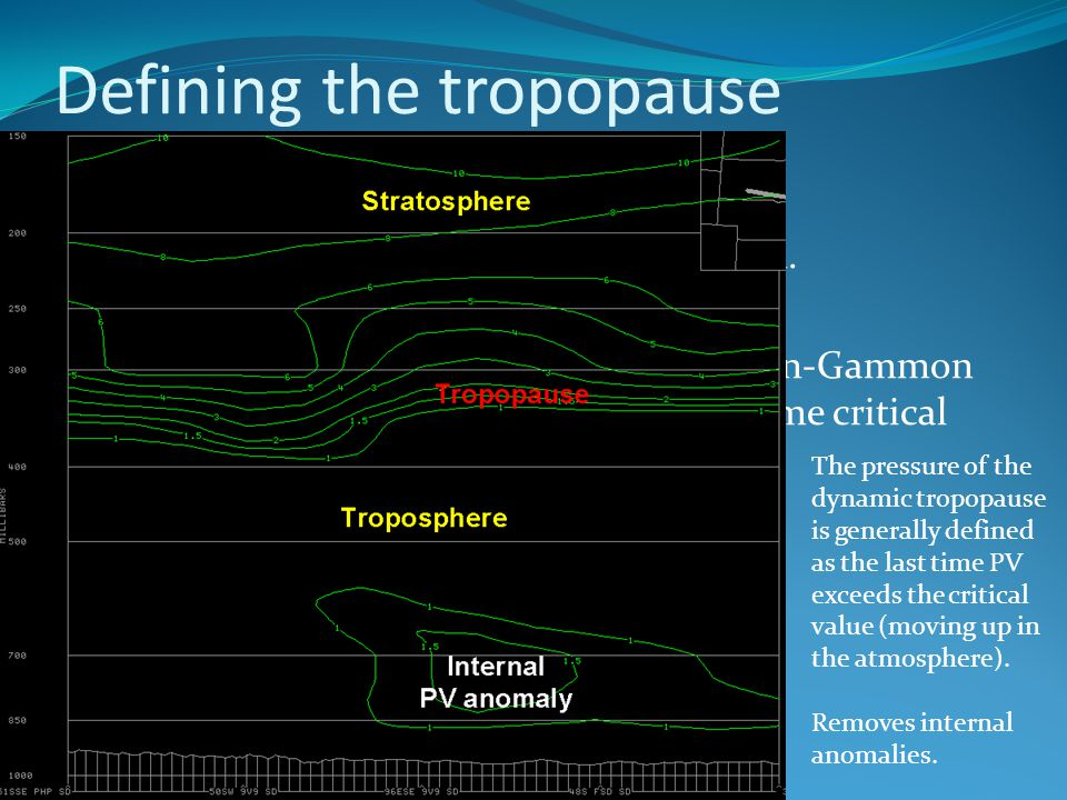 Defining the tropopause