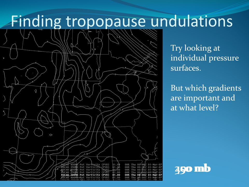 Finding tropopause undulations