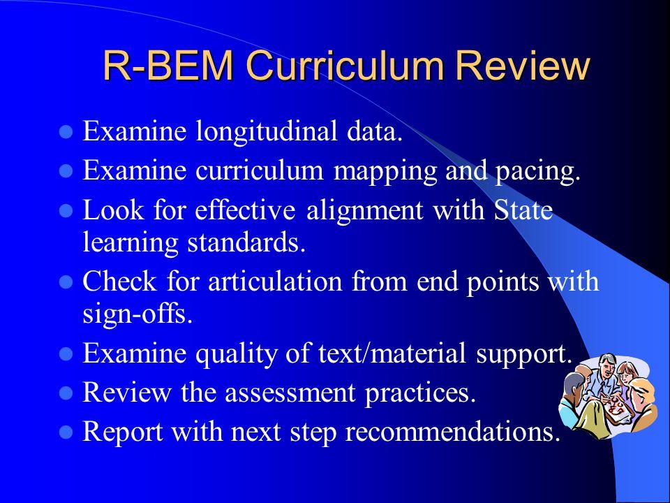 R-BEM Curriculum Review