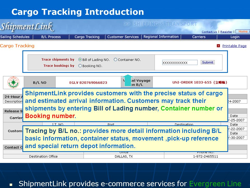 Cargo Tracking Introduction