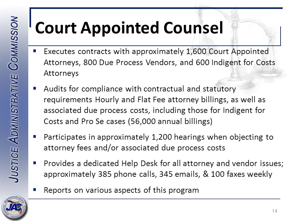 Court Appointed Counsel