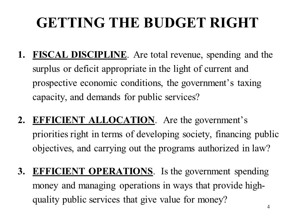 BASIC REQUIREMENTS OF EFFECTIVE PUBLIC EXPENDITURE MANAGEMENT