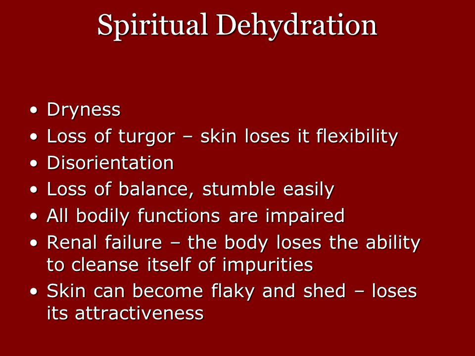 Spiritual Dehydration