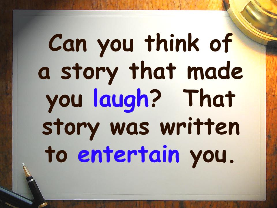Can you think of a story that made you laugh