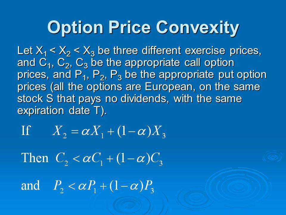 Option Price Convexity