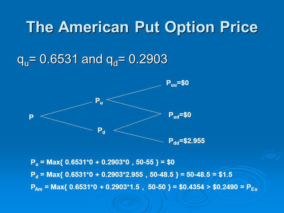 The American Put Option Price