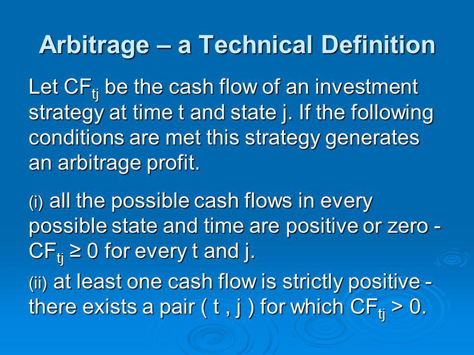 Arbitrage – a Technical Definition