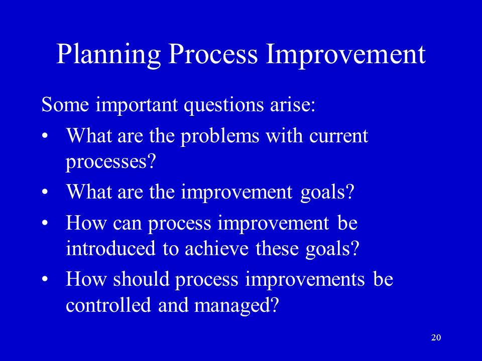 Planning Process Improvement