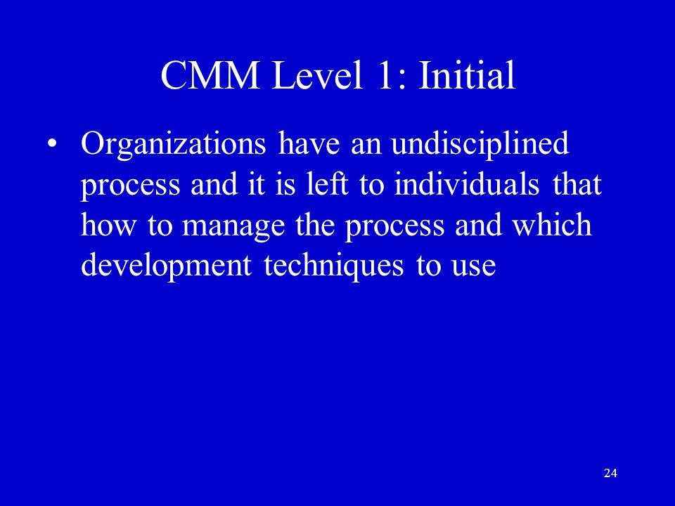 CMM Level 1: Initial