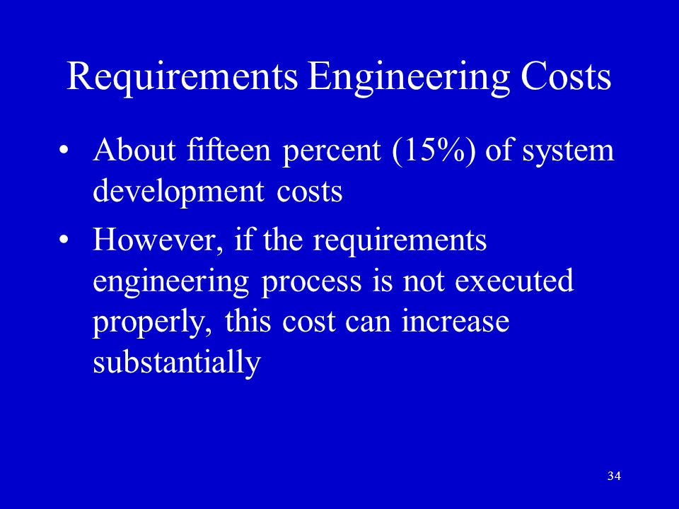 Requirements Engineering Costs