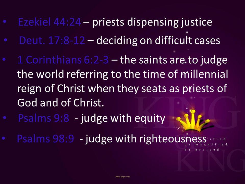Ezekiel 44:24 – priests dispensing justice