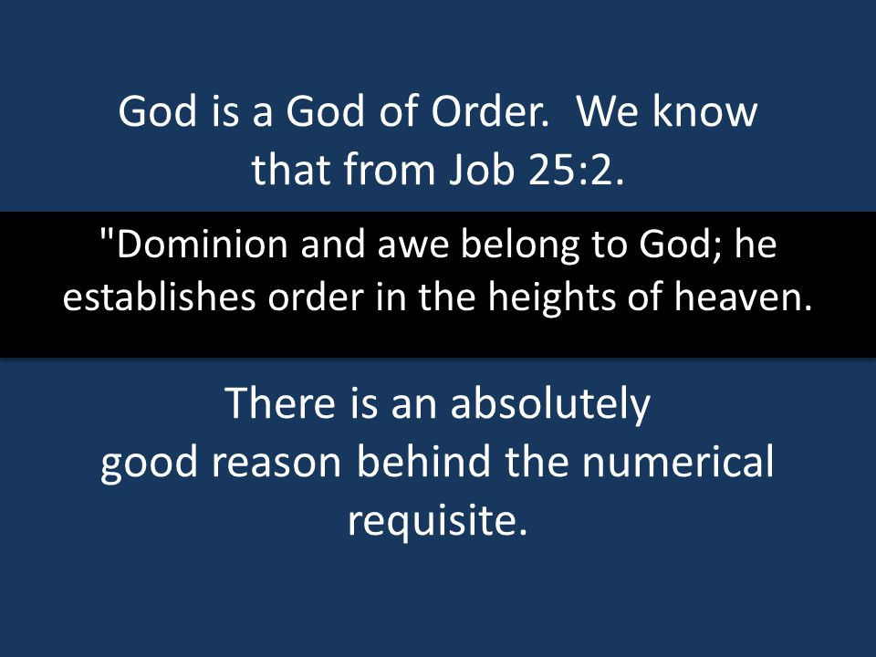 Dominion and awe belong to God; he establishes order in the heights of heaven.