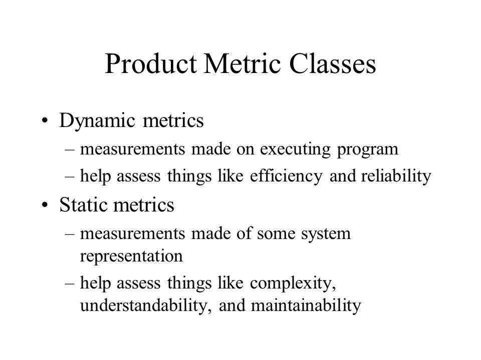 Product Metric Classes