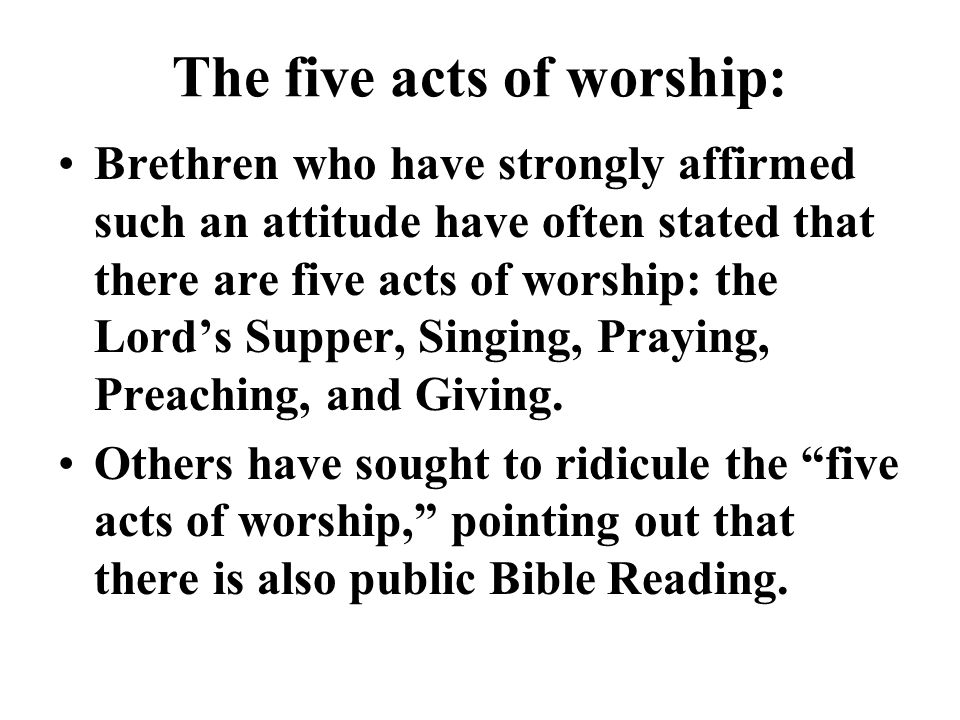 The five acts of worship: