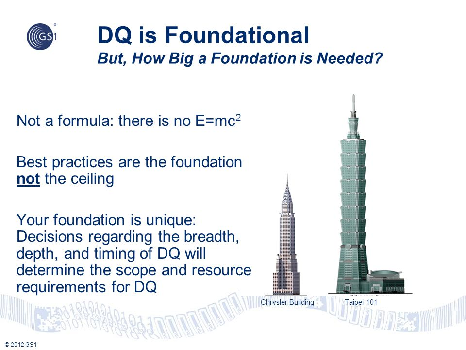 DQ is Foundational But, How Big a Foundation is Needed