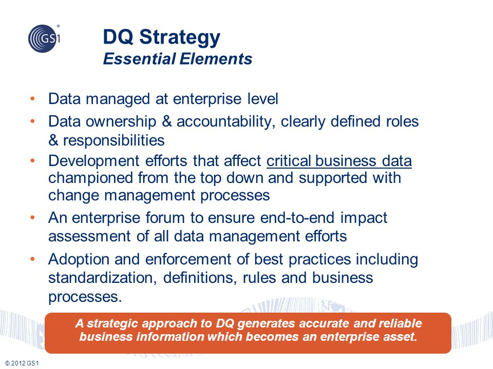 DQ Strategy Essential Elements