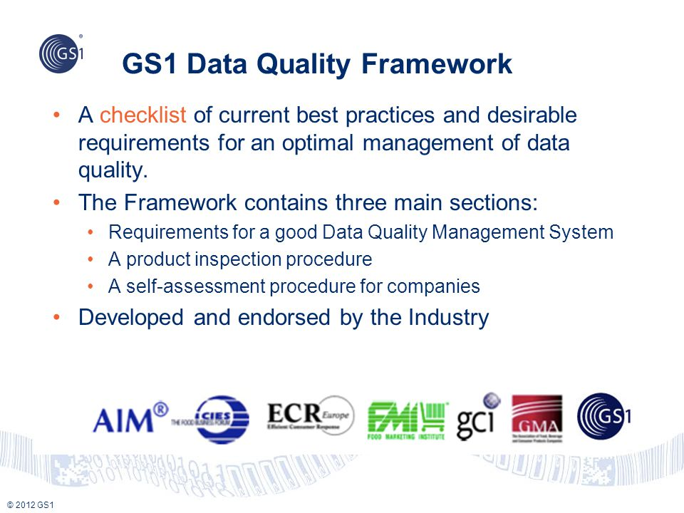 GS1 Data Quality Framework