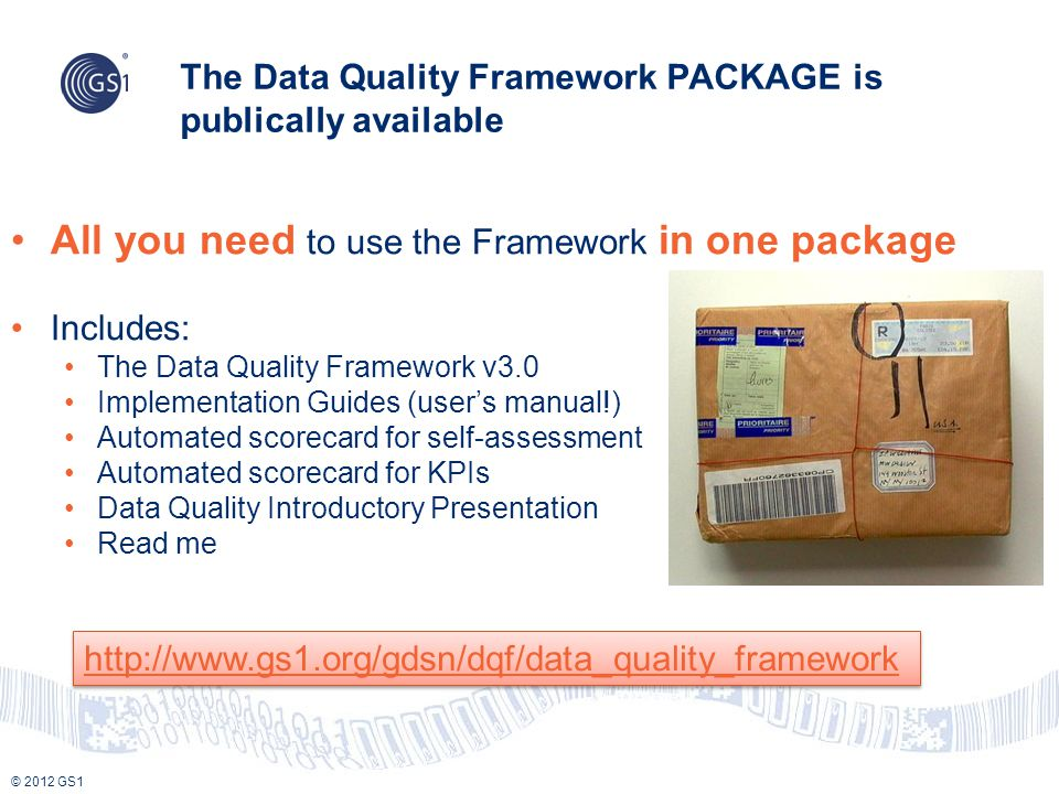 The Data Quality Framework PACKAGE is publically available
