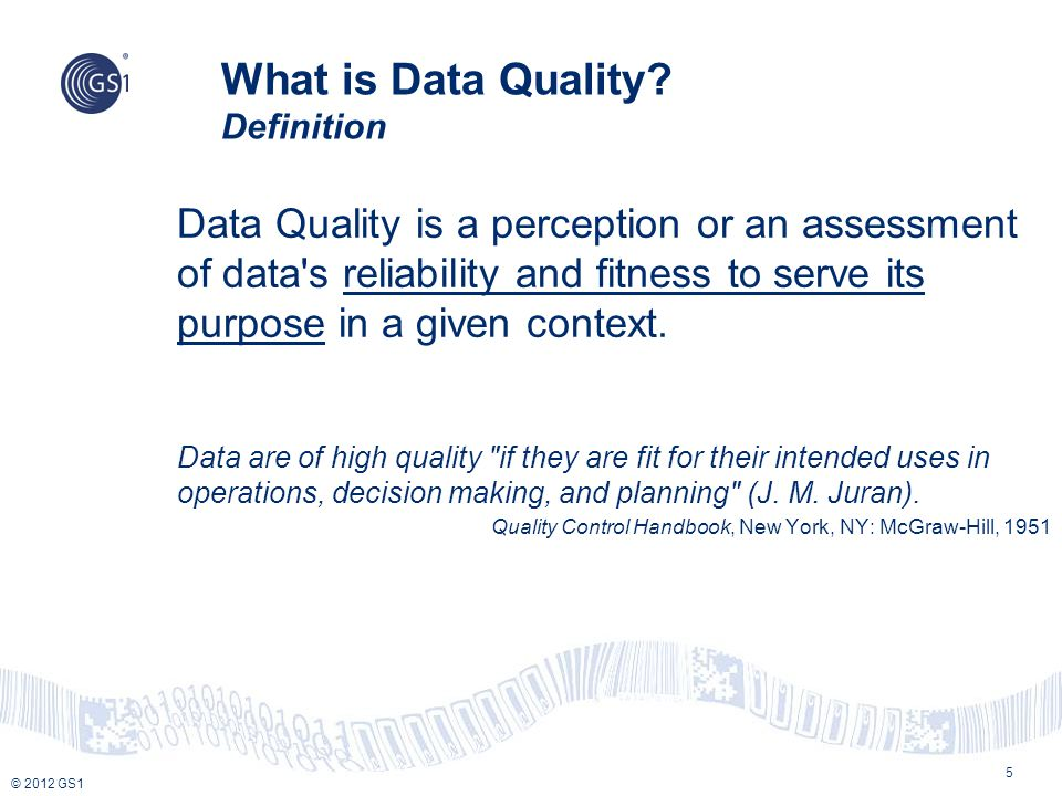 What is Data Quality Definition