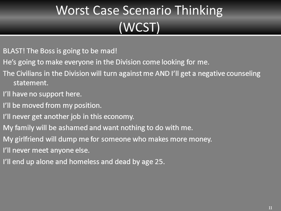 Worst Case Scenario Thinking (WCST)