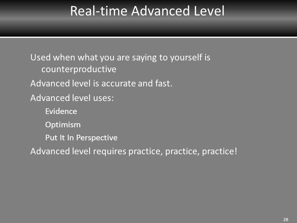 Real-time Advanced Level