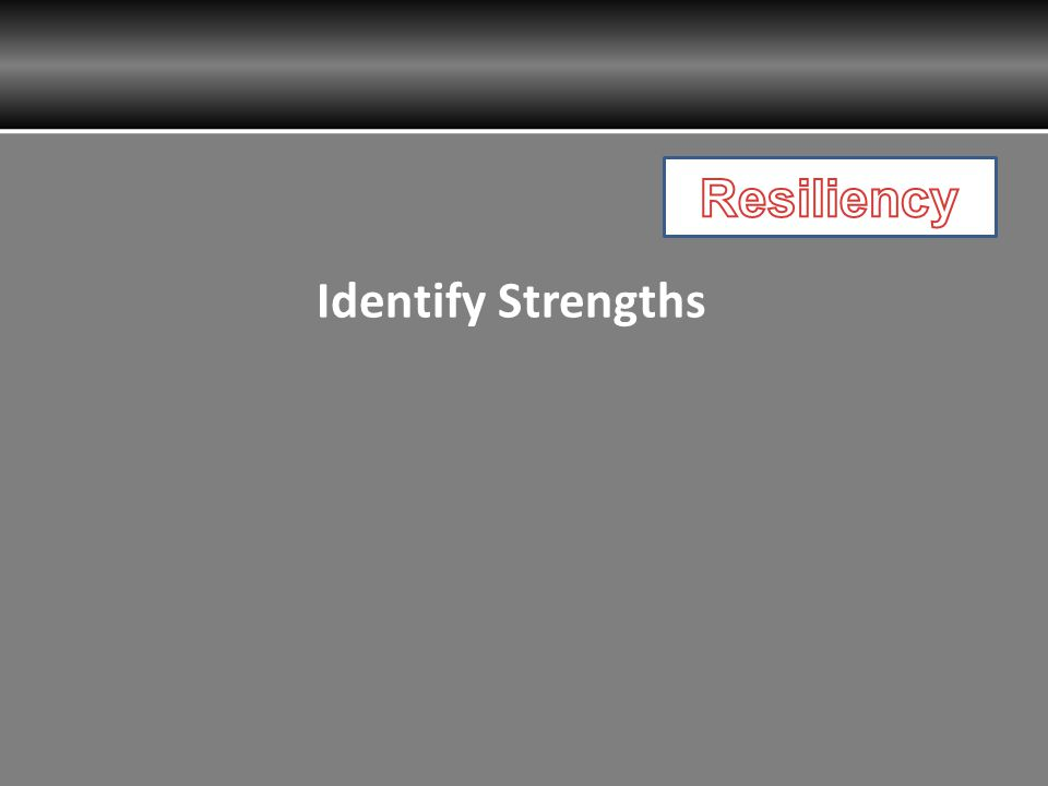 Resiliency Identify Strengths