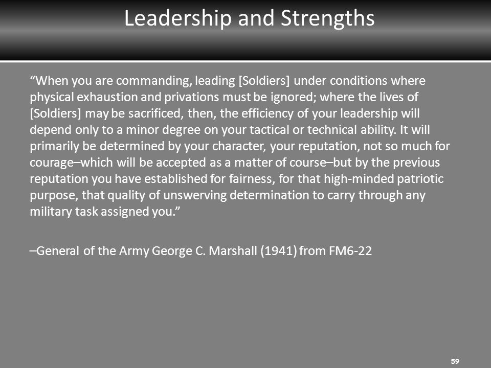 Leadership and Strengths