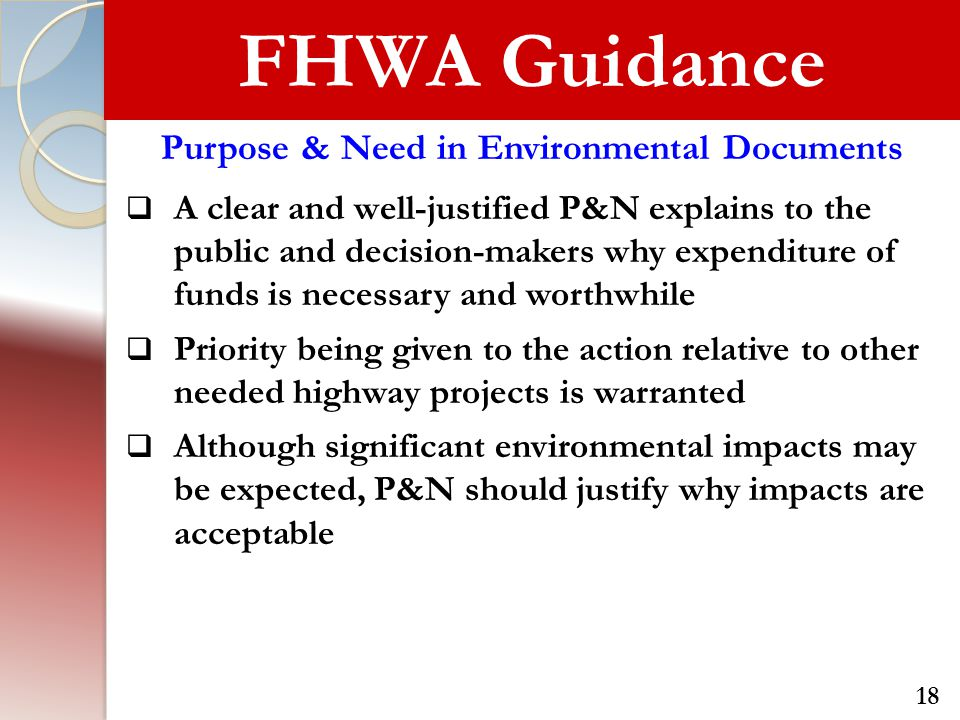 Purpose & Need in Environmental Documents