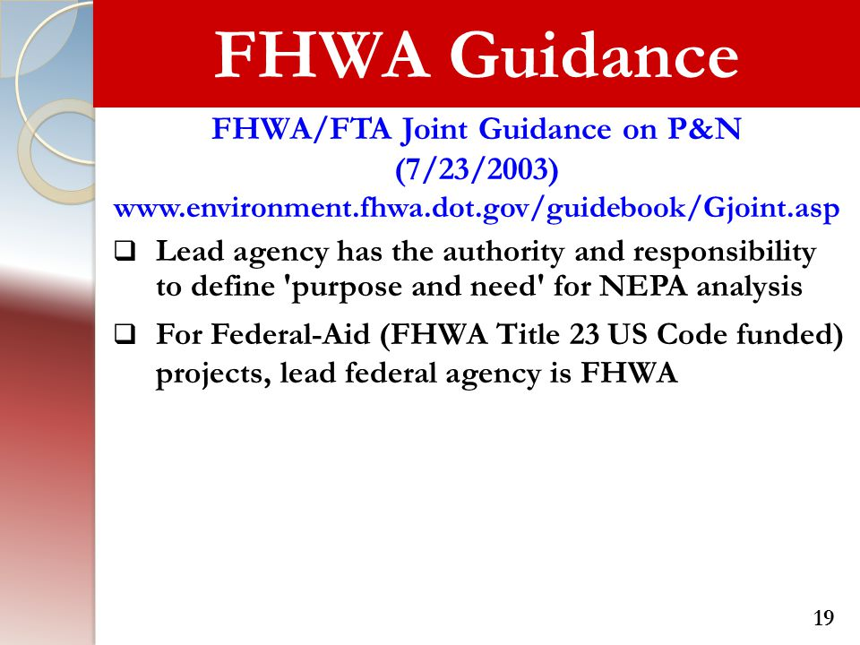 FHWA/FTA Joint Guidance on P&N