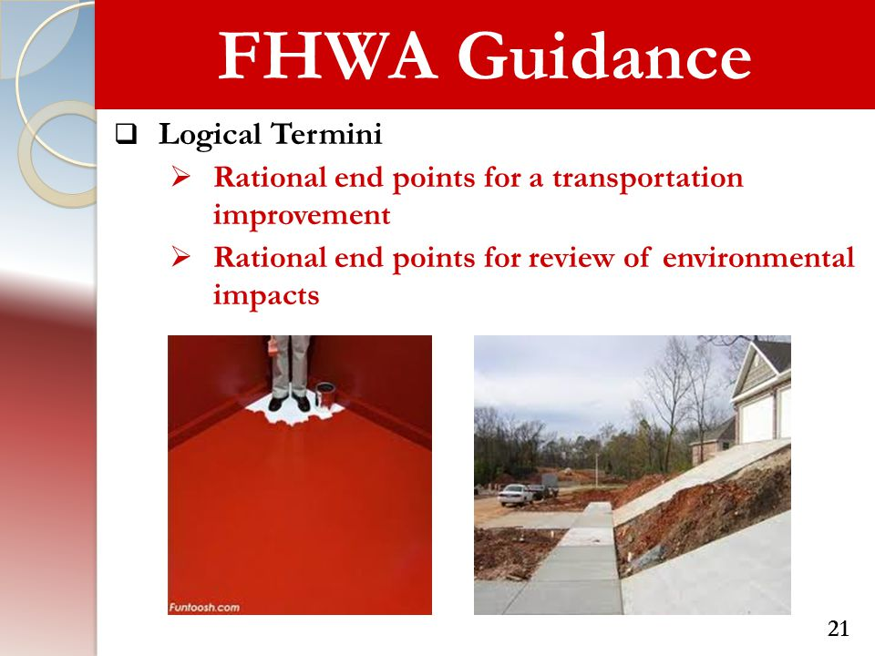 FHWA Guidance Logical Termini
