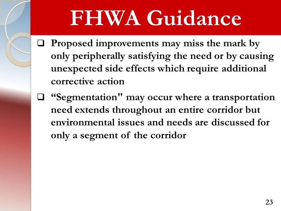 FHWA Guidance