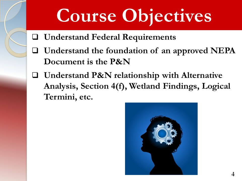 Course Objectives Understand Federal Requirements