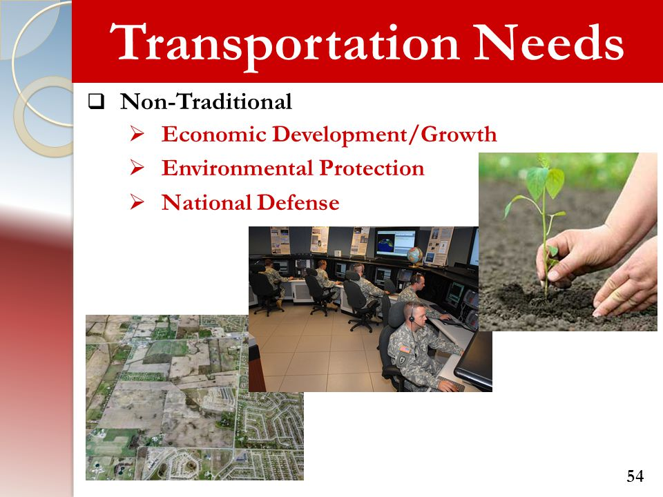 Transportation Needs Non-Traditional Economic Development/Growth