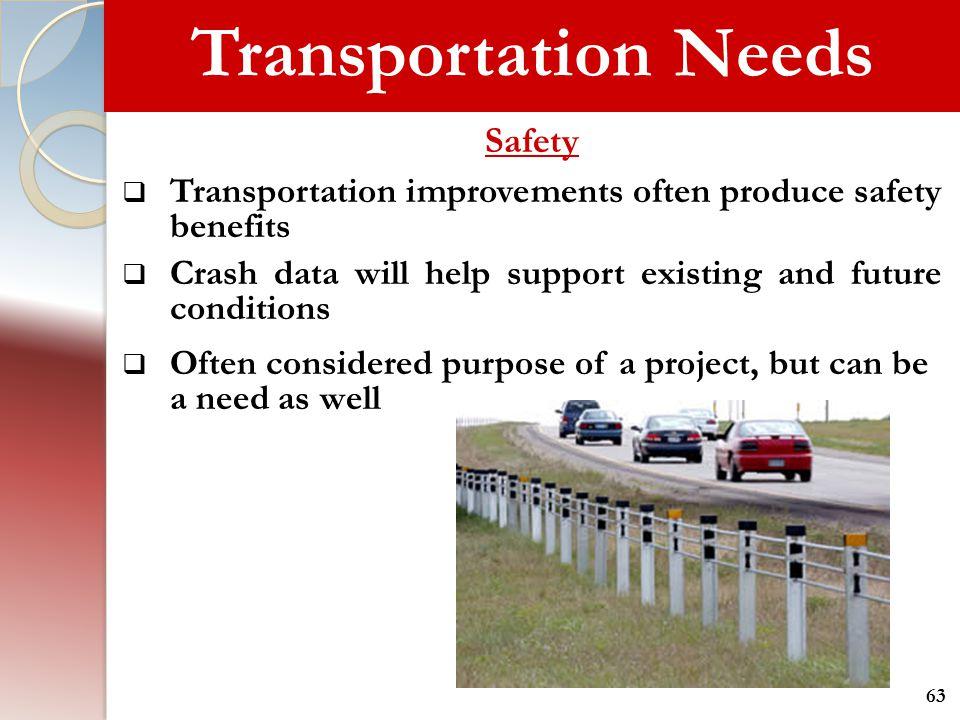 Transportation Needs Safety