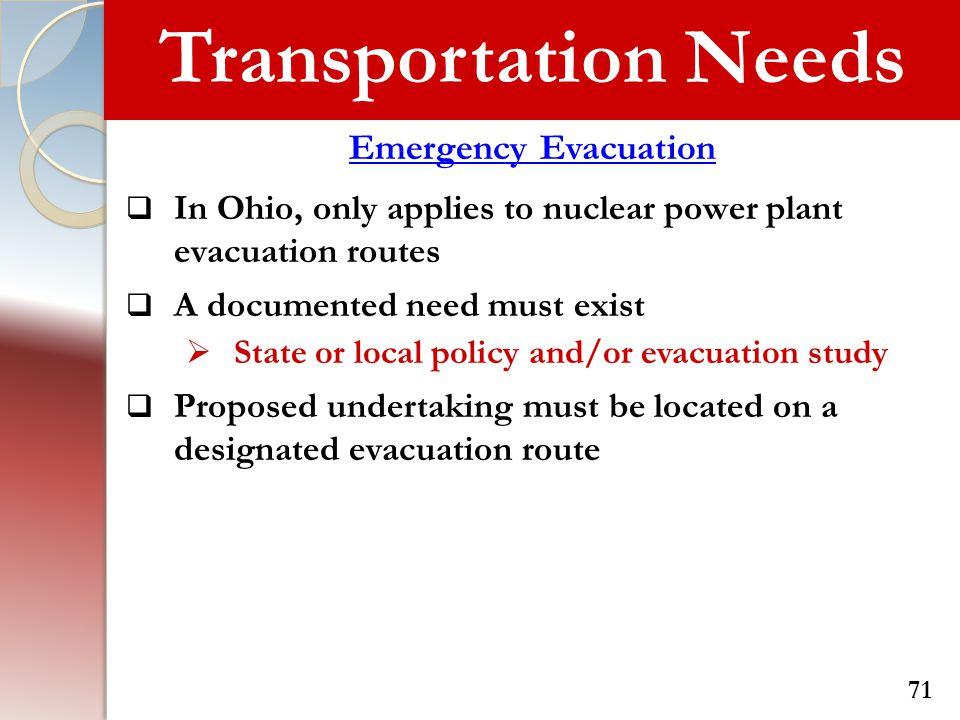 Transportation Needs Emergency Evacuation