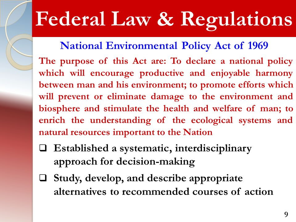 Federal Law & Regulations