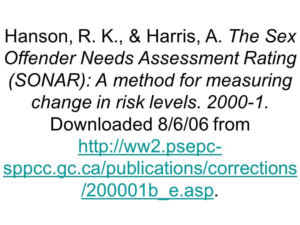 Hanson, R. K., & Harris, A.