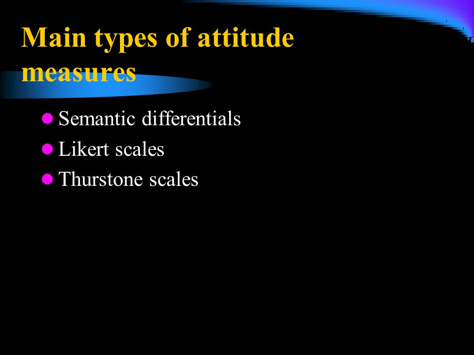 Main types of attitude measures