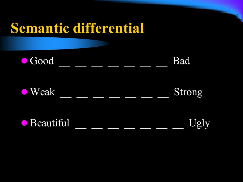 Semantic differential