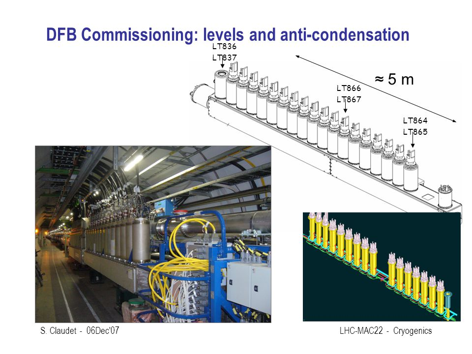 DFB Commissioning: levels and anti-condensation