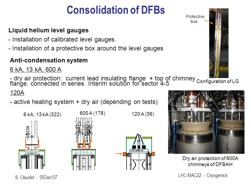Dry air protection of 600A chimneys of DFBAH