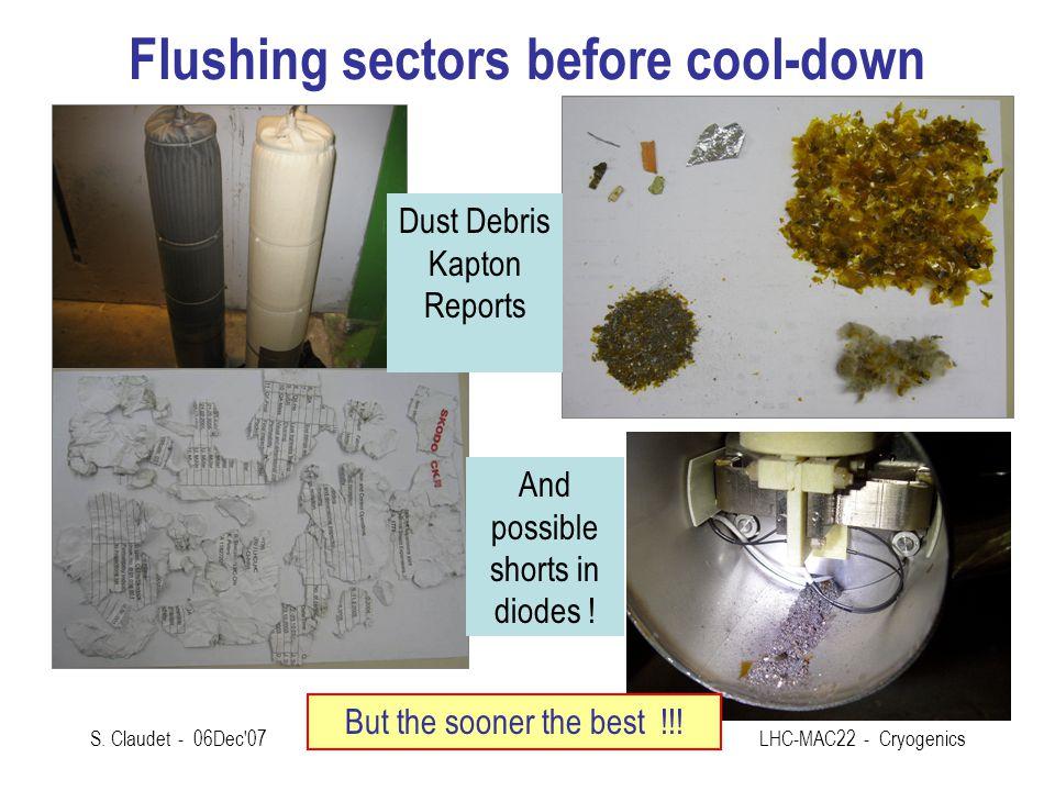 Flushing sectors before cool-down