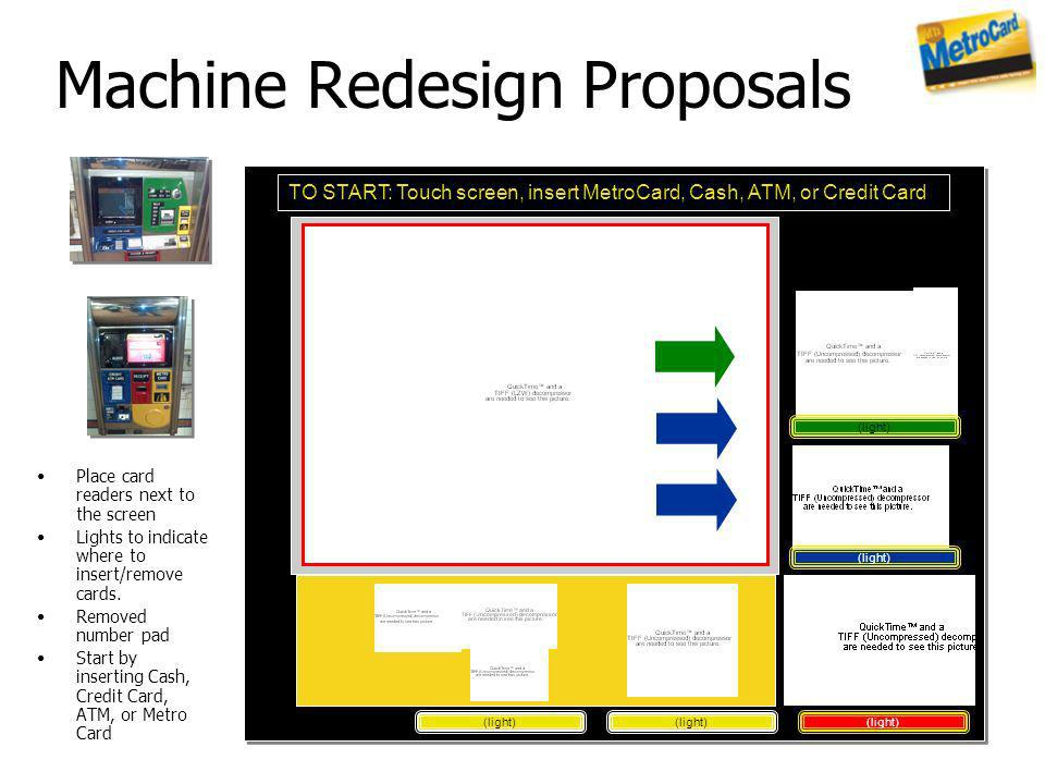 Machine Redesign Proposals